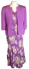 Minosa Petite Ladies 100 % Silk Dress & Jacket  Dress Suit Size 10 ( J4)