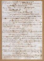 Antico documento manoscritto XVIII secolo Bibliografia Storia Universale Autori