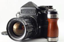 【Exc++++】 Pentax 6x7 TTL 67 + SMC TAKUMAR 75mm f4.5 Lens + Grip from Japan 943