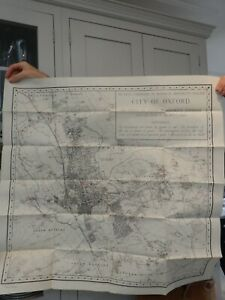 OXFORD LARGE MAP 1950 Era  to frame ... ideal as gift   84/84 cm approx B