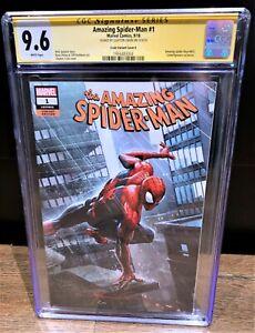 Amazing Spider-Man 2018 #1 CGC SS 9.6 Clayton Crain Variant