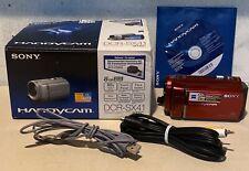 Sony Handycam Dcr-Sx41 Red Digital Camcorder Camera 8gb Memory Card Carl Zeiss
