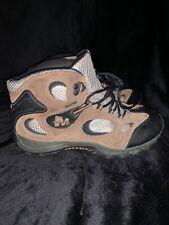 Merrell Chameleon Mid Waterproof Hiking Boots 5.5 Kids Kangaroo Grey Youth Shoes