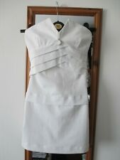 Amnesia White Strapless Bandeau Mini Dress Party Size 6 new
