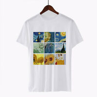 Vincent Van Gogh Paintings Cute Trendy Artsy T Shirt Short Sleeve Tops T-Shirt