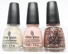 China Glaze Nail Polish PINK OF ME Collection Complete 3 Lacquer (1269-1271)