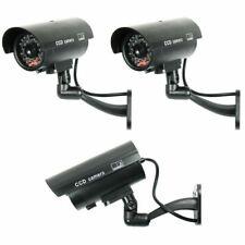 IR Bullet Fake Dummy Surveillance Security Camera CCTV & Record Light 4 Pack