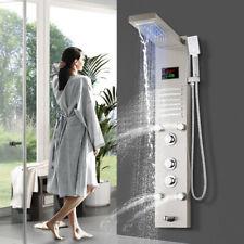 Duschpaneel LED Edelstahl Regendusche Set Duschsäule Massage Duschsystem Brause