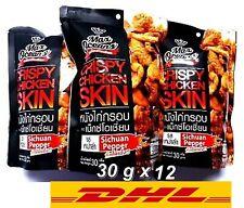 Lot12x30g Crispy Fried Chicken Skin Max Oceans Sichuan Pepper Flavor Thai  Snack