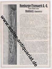 Homburger Eisenwerk vorm. Gebr. Stumm Homburg Saar 2 S.Werbeanzeige 1926 Reklame
