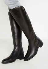 Clarks Ladies Valana Melrose Black Leather  Long Boots Size UK 5.5 E / 39