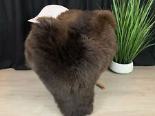 Beautiful Natural Rich Brown Sheepskin Rug Pelt Genuine Leather Seat Cover Hide