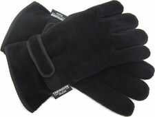 Mens Thermal Thinsulate Polar Fleece Gloves Ski Fishing Mororbike  one size