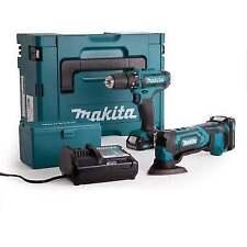 Makita CLX203AJX1 10.8v CXT Drill Driver Multi Tool Combi Kit 2 2.0ah Batteries