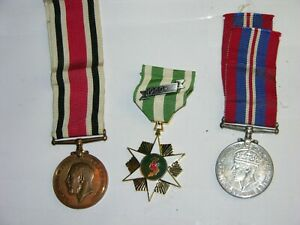 3 Military Medals Vietnam 1960 & Faithful Service & 1930-45 Georgivs