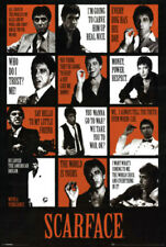 Scarface (1983) Famous Quotes Collage 24x36 Poster Print Al Pacino Tony Montana