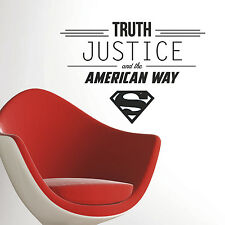 New Superman Truth Justice And The American Way Wall Decals Dc Comics Stickers