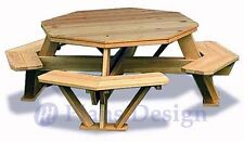 OCTAGON Picnic Table Woodcraft Project Woodworking Pattern EBay - Octagon picnic table for sale
