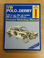 VW POLO & DERBY 1976-1982 HAYNES WORKSHOP MANUAL 335 VGC UNUSED NEW FREE P&P