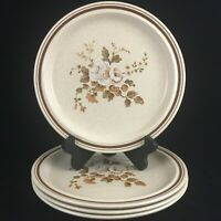 "Set of 4 VTG Dinner Plates 10 1/4"" by Royal Doulton Ravel Brown LS1037 England"