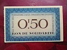 Bon de solidarité de 10 Francs au profit des populations civiles éprouvées WW2