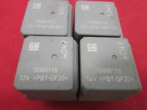 GM RELAY 13500118  *6047* TESTED OEM FREE SHIPPING  **QTY 4 RELAYS*