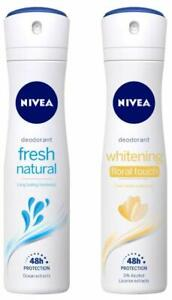 NIVEA Deodorant, Fresh Natural, 150ML + Deodorant, Floral Touch, Women, 150ML