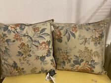 Ralph Lauren 2 Decorative Bed Pillow Lake House Floral/Goose Feather Fill MWT