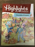 VINTAGE Highlights For Children Magazine The Monthly Book September 1989