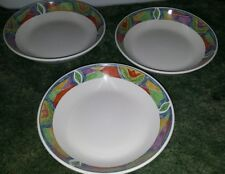 Lot of 3 Majesticware Oneida Crystal Rose Flower Soup Cereal Bowl 7.5""
