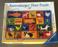 """""""Lucy Cousins' Animals"""" - 24 Piece Floor Puzzle by Ravensburger - 100% Complete!"""
