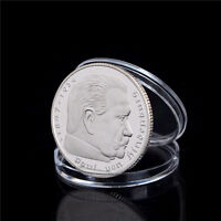 1Pcs Silver-Plated Coins Hindenburg President Commemorative Coin Gift E&TB