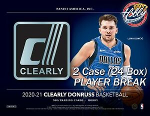 Sam Merrill BUCKS 2020-21 CLEARLY DONRUSS 2 Case (24 Box) Player Break