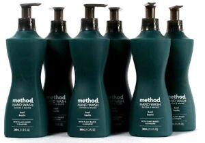 6 Bottles Method 11.5 Oz Basil Plant Based Cleansers Hand Wash