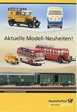 Deutsche Post Prospekt Modellauto Modellbahn Mercedes LP322 T1 Bus Samba Puch SG