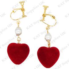 CLIP ON Earrings Gold Non Pierced Ear Studs Womens Jewellery Fashion Round #91