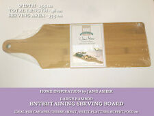 "BAMBOO SERVING ENTERTAINING BOARD 18 x 6"" JANE ASHER HOME INSPIRATION Party Tray"