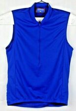 performance mens blue size large bike cycling vest jersey shirt half zip