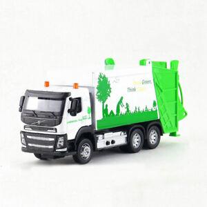 1:50 Garbage Dump Truck Model Diecast Gift Toy Vehicle Kids Sound & Light White