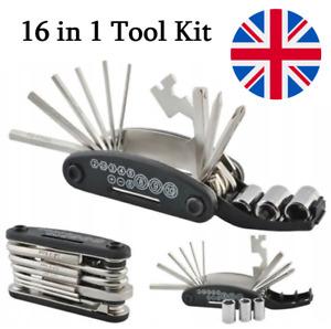 16 in 1 Multitool Cycling Bike Function Breaker Bicycle Repair Pocket Tool Kit