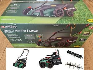 Parkside 2 in 1 Electric Scarifier and Aerator 1500W Garden Tool Lawn Care NEW .