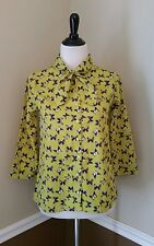 NWT Modcloth Butterfly Top US 6 Lime Green Neck Tie by Circus Retro Take Office
