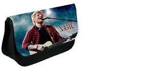 ED SHEERAN  Personalised Pencil Case, make up bag, school any name