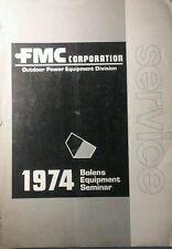 Bolens 1250 1455 1476 1477 1000 900 Garden Tractor Service School Manual 1974