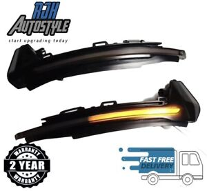 Audi A1 S1 Sweeping Dynamic Sequential LED Wing Mirror Indicator Light Smoked