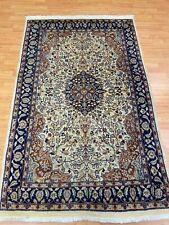 "4' x 6'2"" Pakistani Tab riz Oriental Rug - Hand Made - 100% Wool"