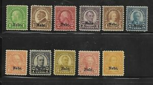 USA Nebraska Overprints  Scott 669-679  Mint