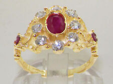 Ruby Natural Oval Yellow Gold Fine Gemstone Rings
