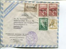 Argentina official stamps on air mail cover to Germany 1965