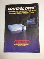 Control Deck System Console Nintendo NES Instruction Manual Booklet ONLY #E2
